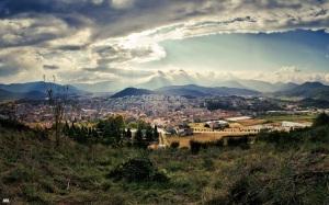 Vista d'Olot des de Sant Francesc