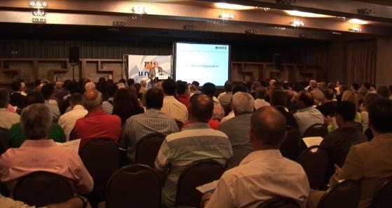 Un moment de l'assemblea general de militants del 21 de juny passat